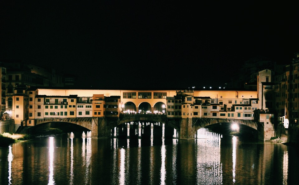 Ponte Vecchio at Nightfall.
