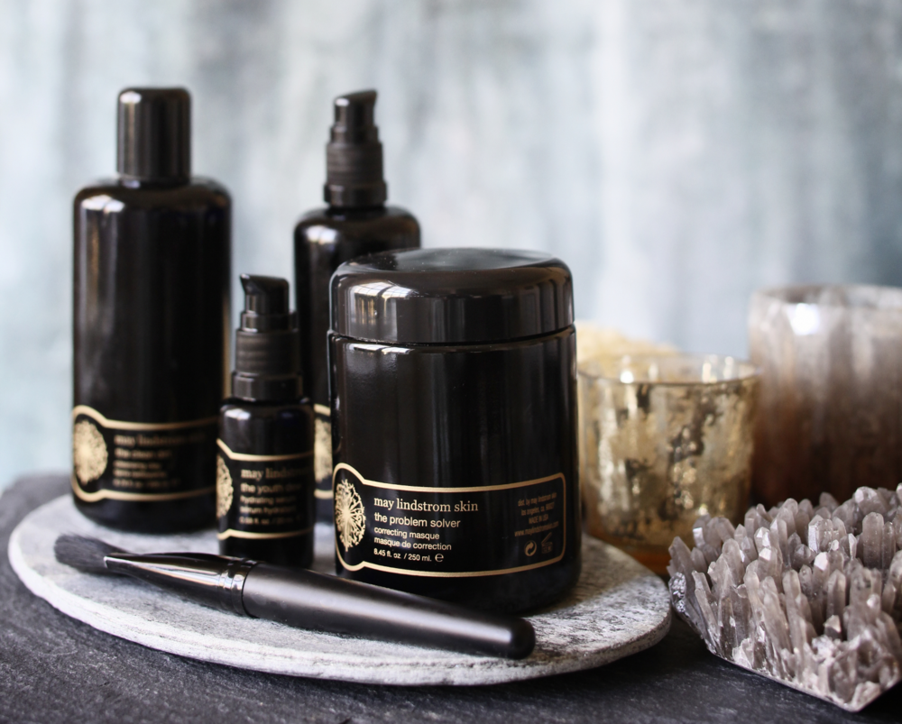 The luxurious collection of May Lindstrom. Photo courtesy of May Lindstrom Skin.