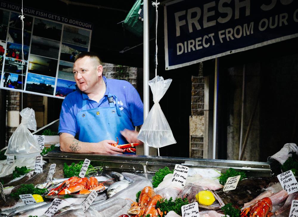 Fish Monger, Borough Market.
