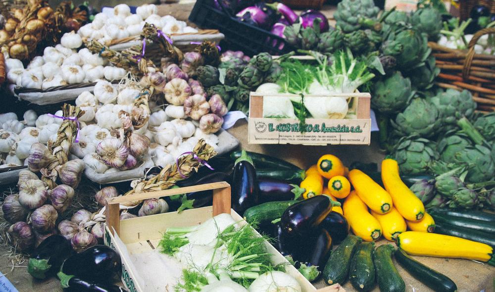 Vegetables at Borough Market.