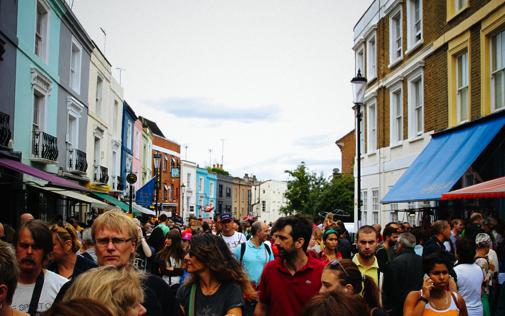 Market day in Notting Hill.