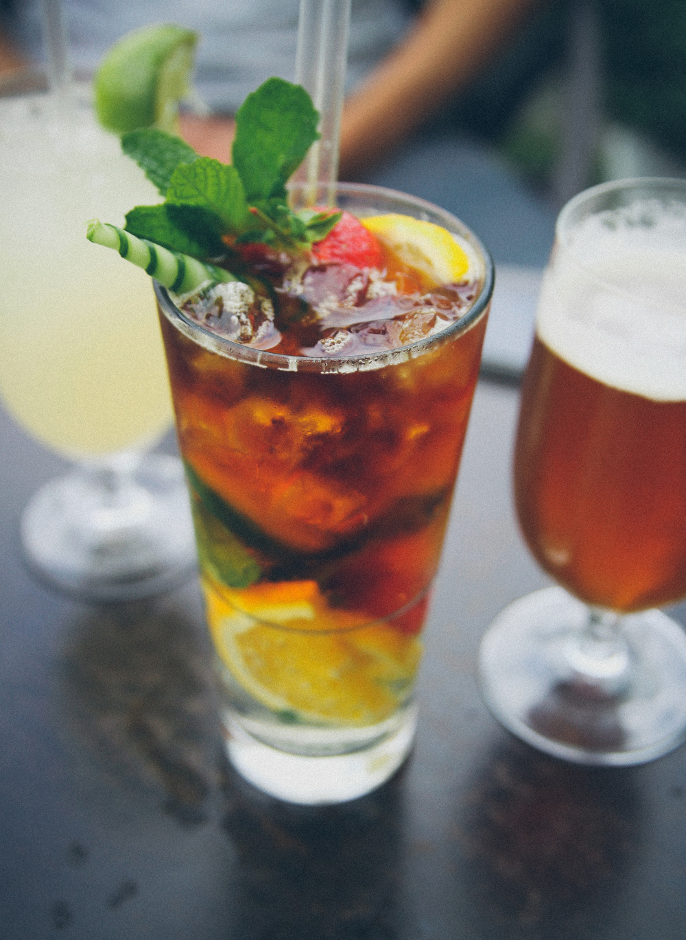Pimms at OXO Tower Bar.