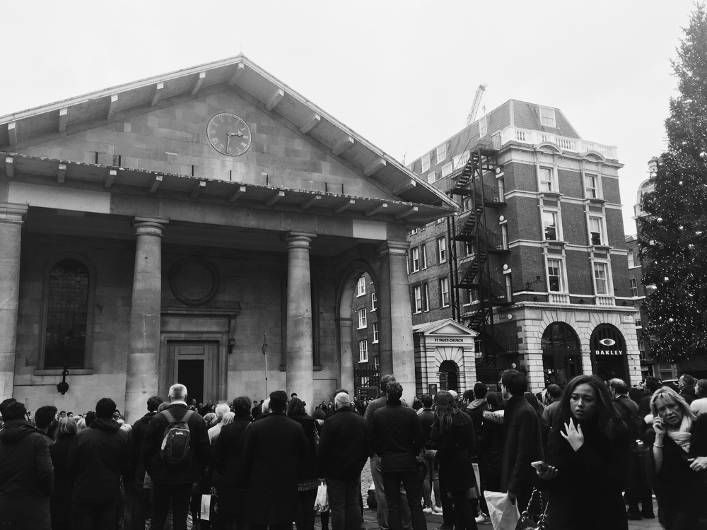 """St Paul's, """"The Actor's Church"""", Covent Garden."""