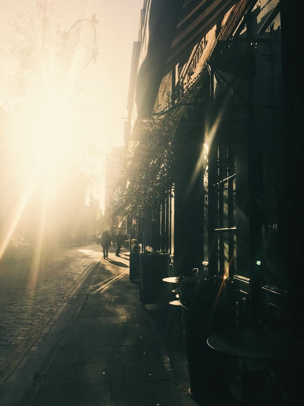 Morning sun on Monmouth street, Seven Dials.