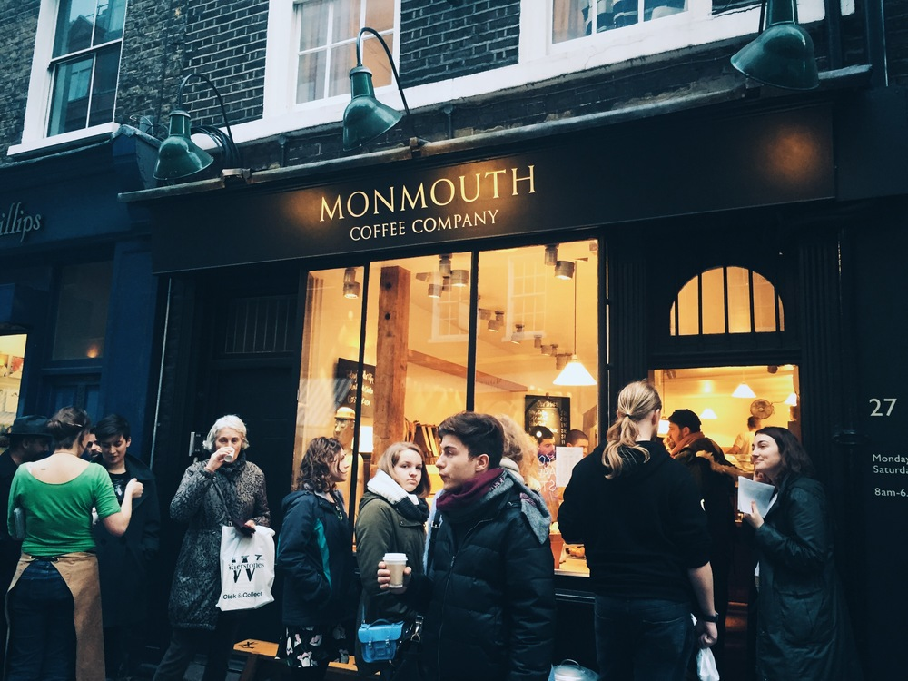 Afternoon buzz at Monmouth Coffee, Covent Garden.