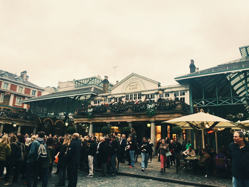 Covent Garden  Crowds.