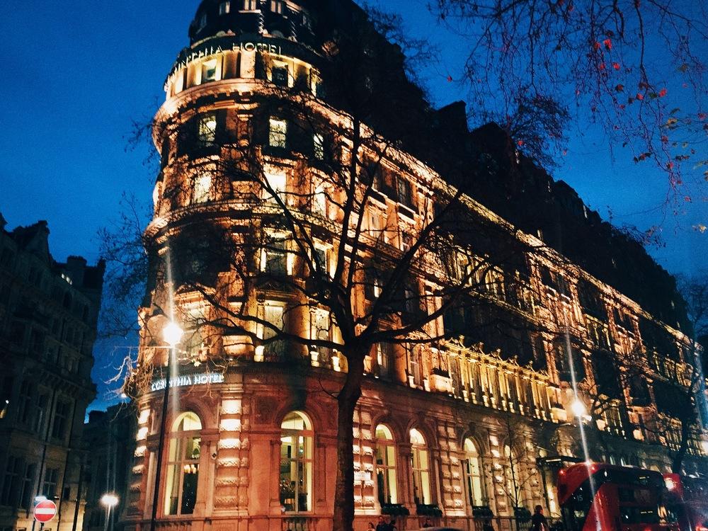 The stunning Corinthia Hotel, Embankment.