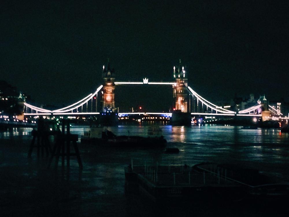 Tower Bridge walk on Christmas Day.