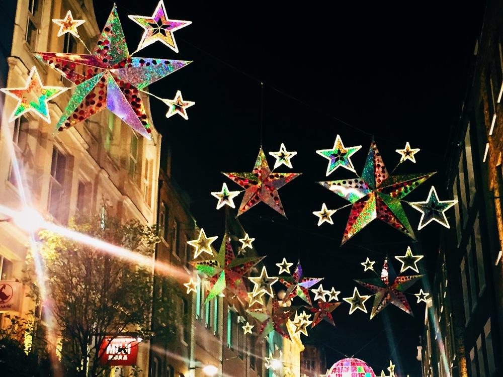 Festive street lights, Kingly Court near Dehesa Tapas, Soho.