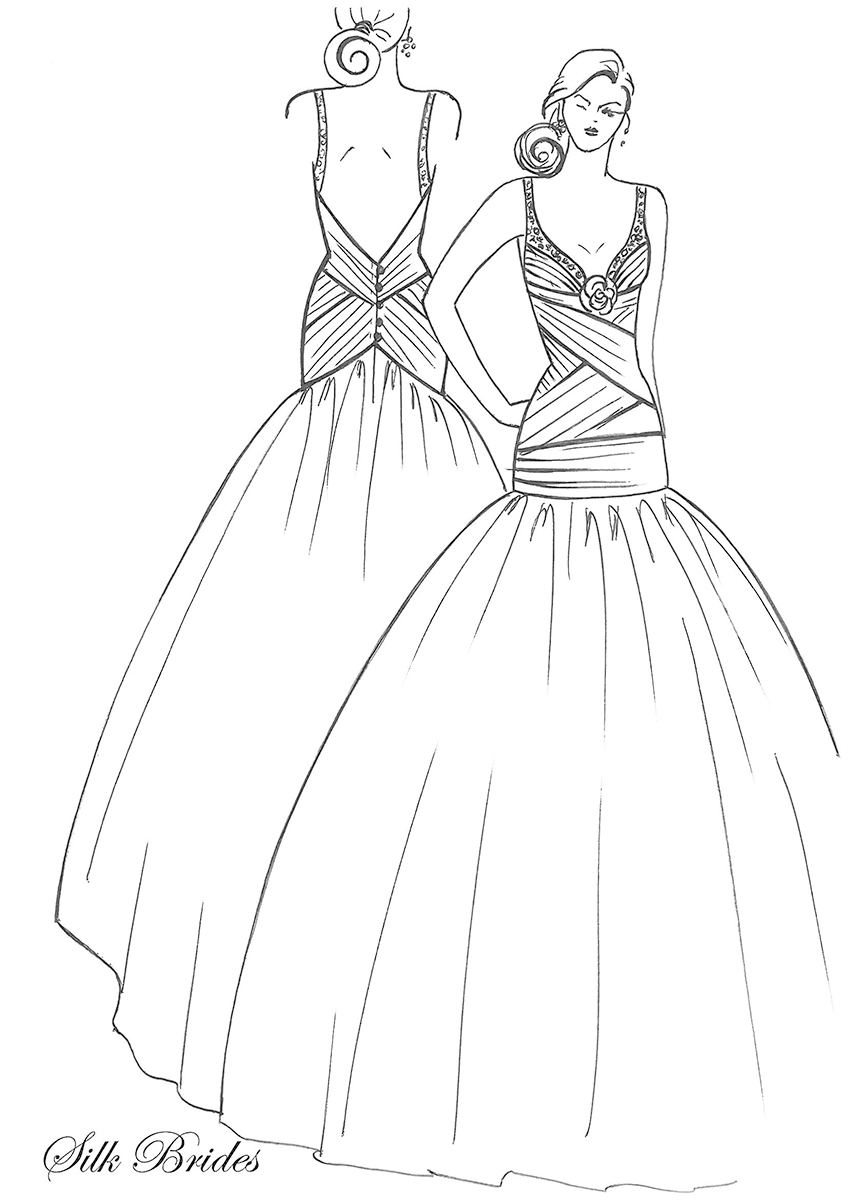 Wedding Dress Line Drawing : Wedding dresses in robina from bridal store gowns to custom