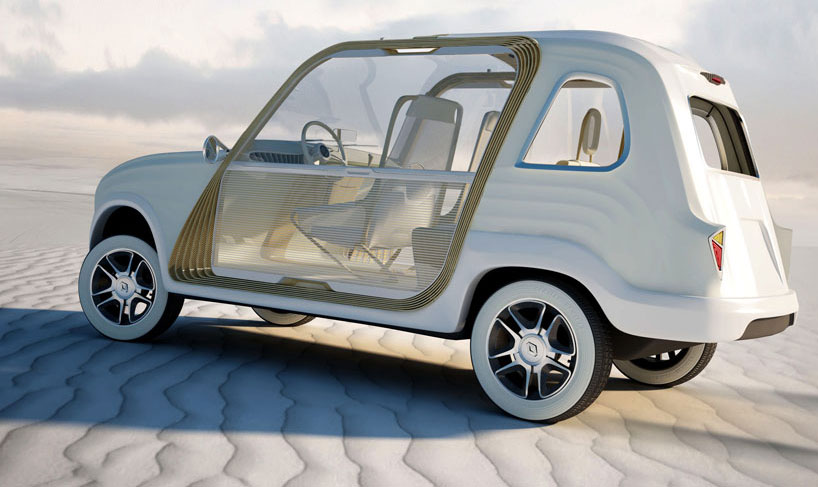 'r4 rally,' Renault redesign concept by Yann Terrer and Jérôme Garzon. (Image Source: designboom.com)