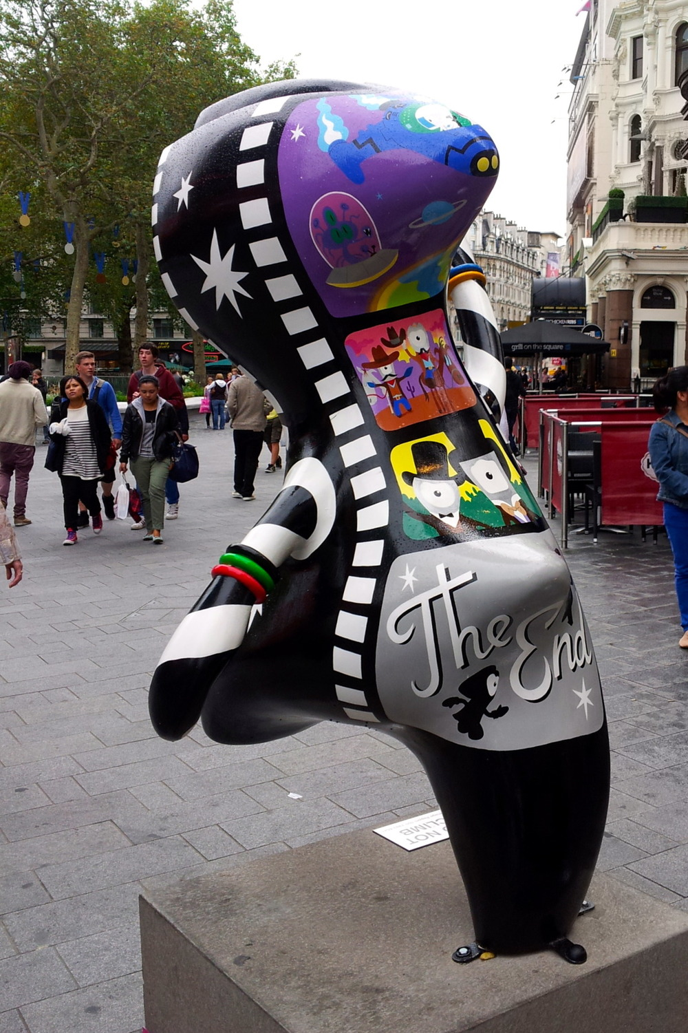 Filmstar Wenlock at Leicester Square