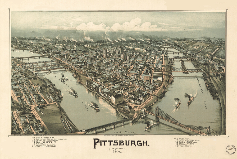 Pittsburgh, Pennsylvania 1902. (Drawn by T. M. Fowler)
