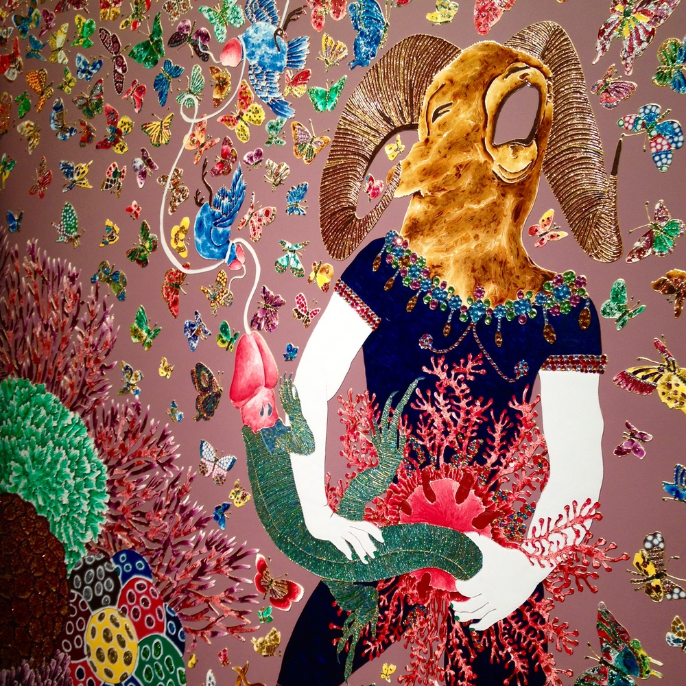 """Garden of Earthly Delights""   - Raqib Shaw.  © Eileen Hsieh"