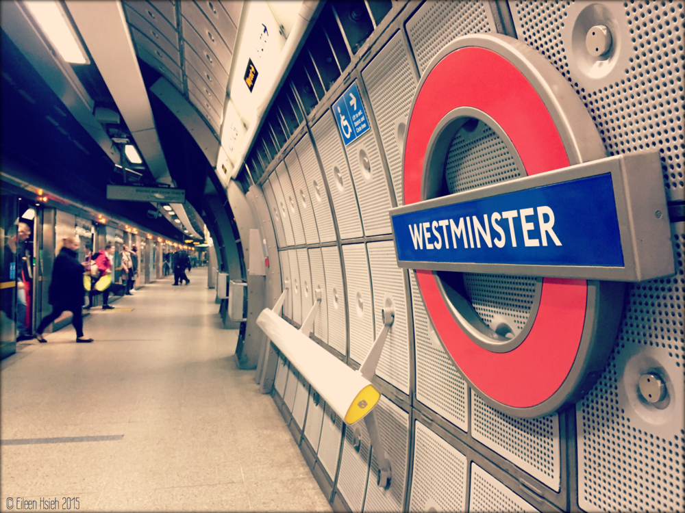 Westminster Underground Station has been voted by TimeOut readers as their favorite station in London. © Eileen Hsieh