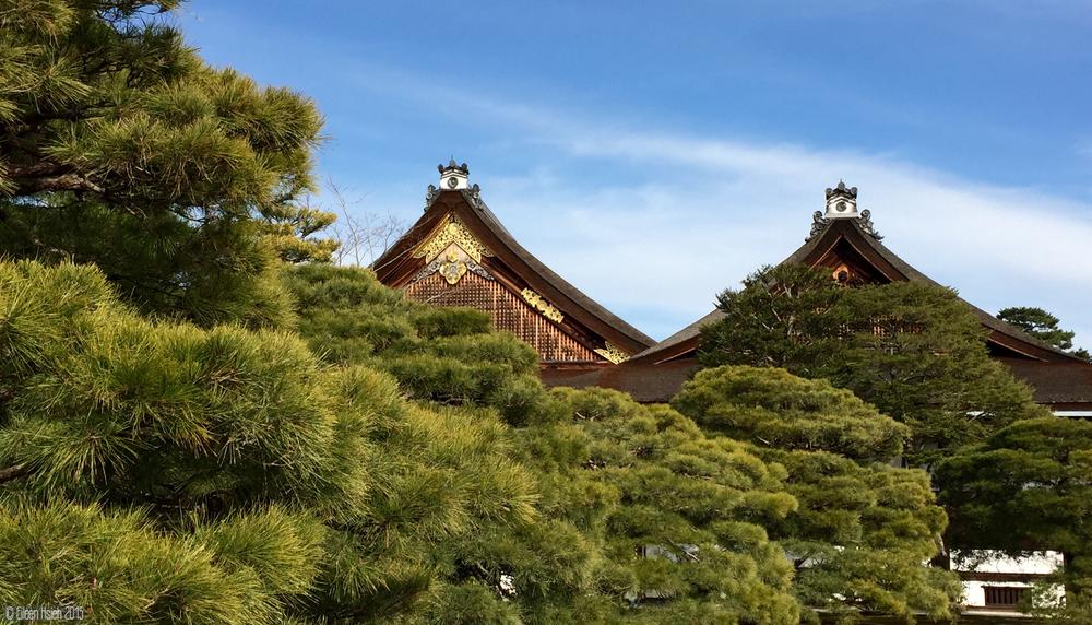 京都御所的木造建築,風格素樸沈穩。© Eileen Hsieh