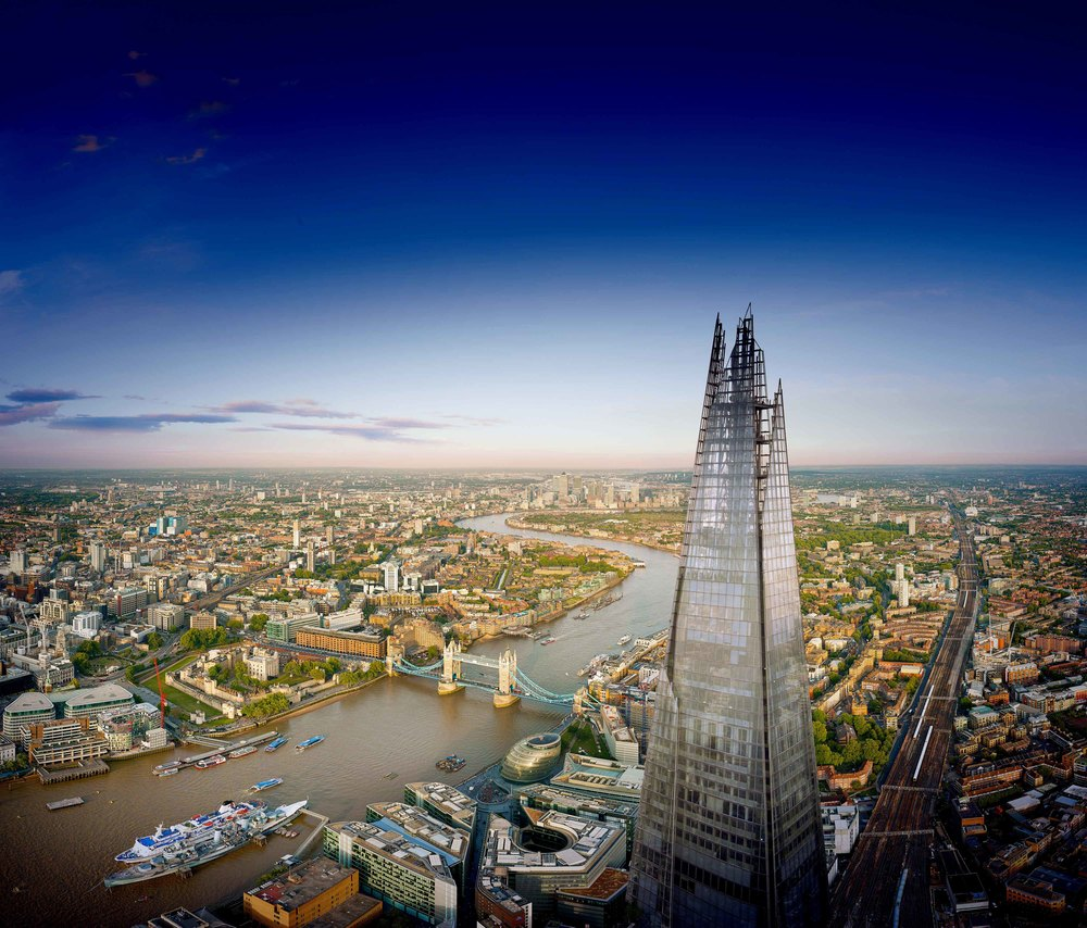 The View from The Shard, London. 摘星塔無敵的視野。© The View From The Shard