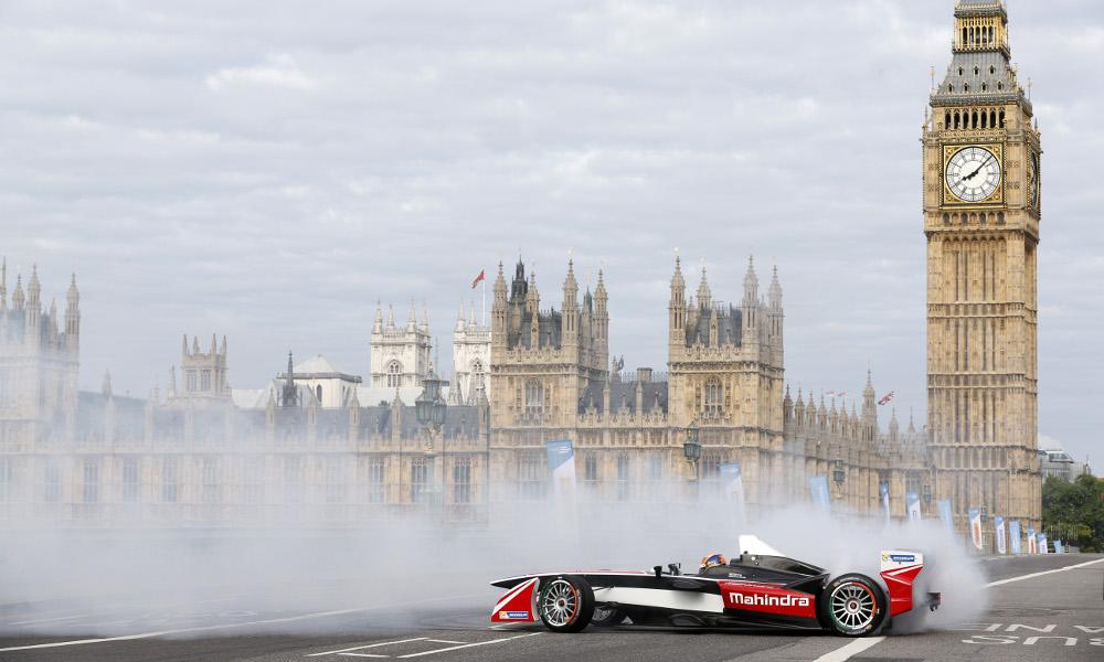 The inauguralseason of ePrix Formula E series concludes in London this summer. 首屆電動方程式錦標賽的閉幕賽將在倫敦舉行。 (Image:FIA Formula E)