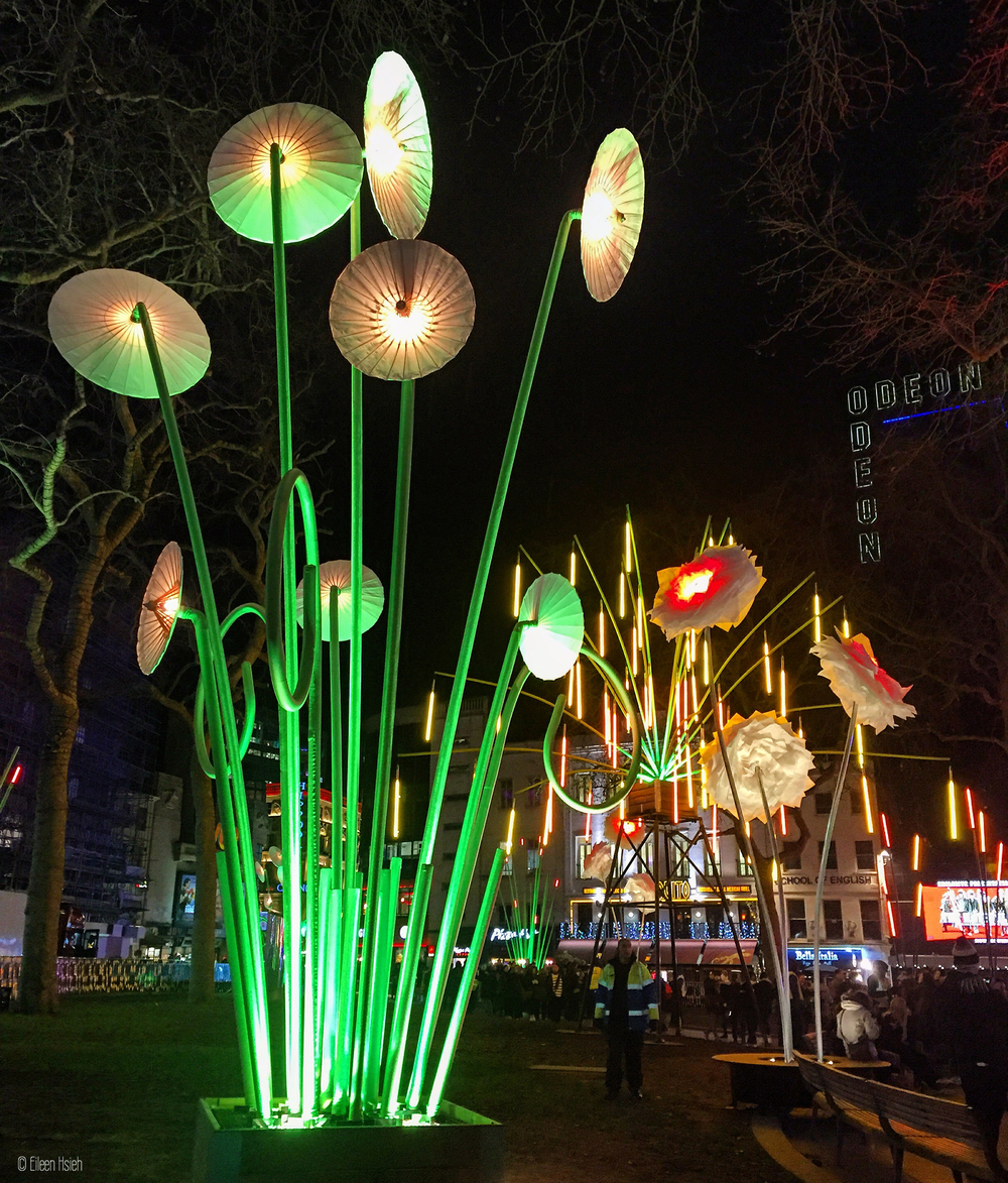 Urban Jungle in central London. Garden of Light by TILT