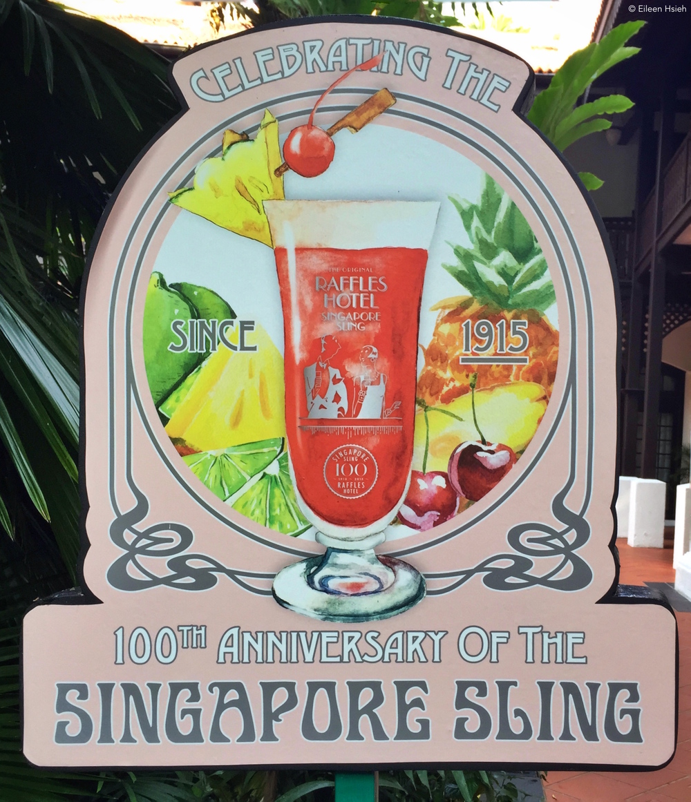 100 years ago the most famous cocktail in Singapore was born. © Eileen Hsieh