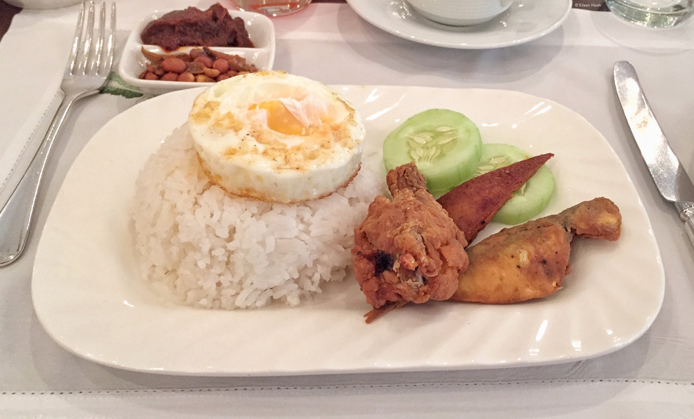 Fried chicken and rice. © Eileen Hsieh