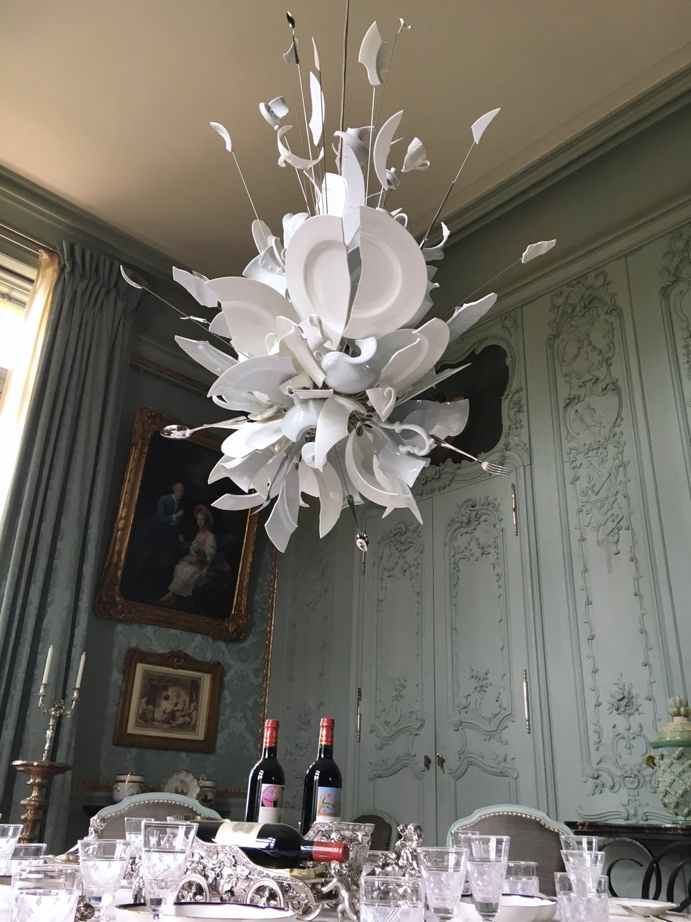 UK Waddesdon Manor broken glass chandelier National Trust French Chateau Rothschild Buckinghamshire garden chateau Eileen Hsieh Follow That Bug .jpg