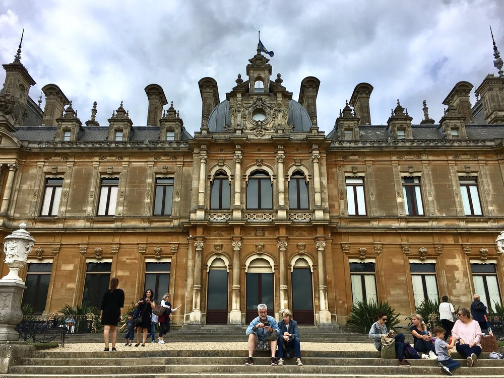 UK Waddesdon Manor steps National Trust French Chateau Rothschild Buckinghamshire garden chateau Eileen Hsieh Follow That Bug .jpg