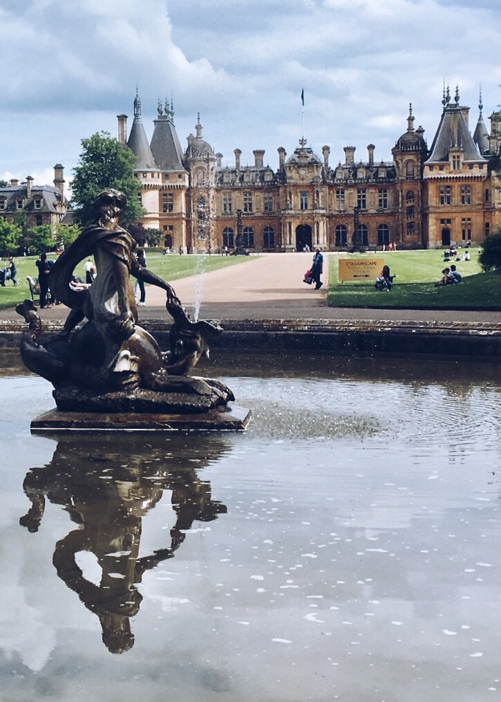 Eileen Hsieh follow that bug Waddesdon Manor entrance fountain.jpg