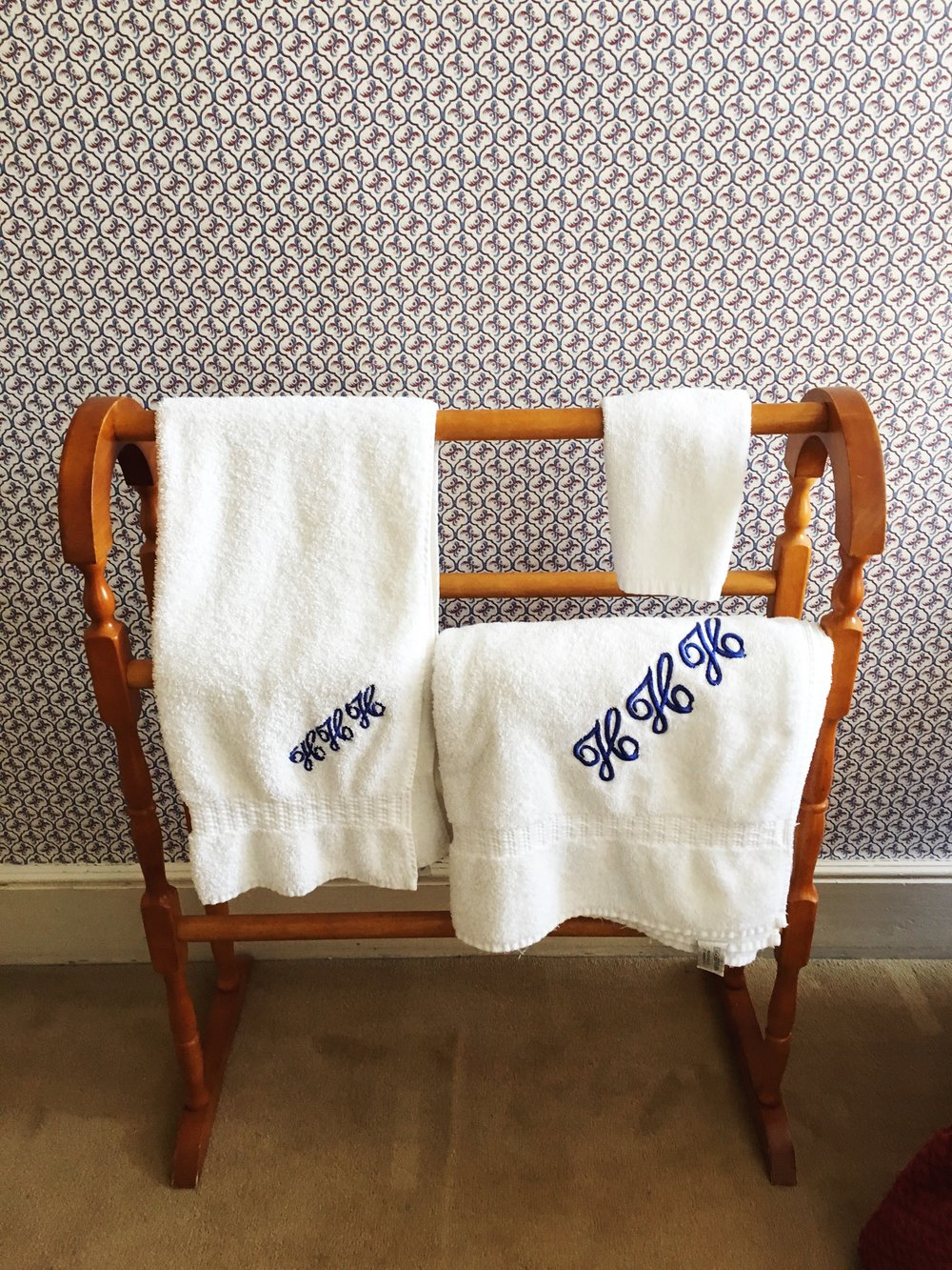 Monogrammed towels, of course. © Eileen Hsieh / Follow That Bug