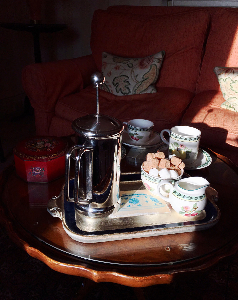 Morning Coffee/Tea - Delivered to your cottage at the break of dawn by the butler.