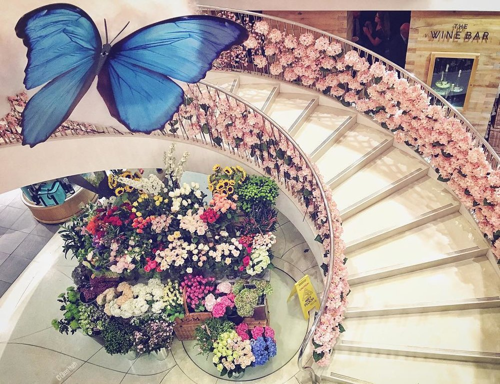 Fortnum Mason butterfly floral stairs eileen hsieh followthatbug follow that bug london