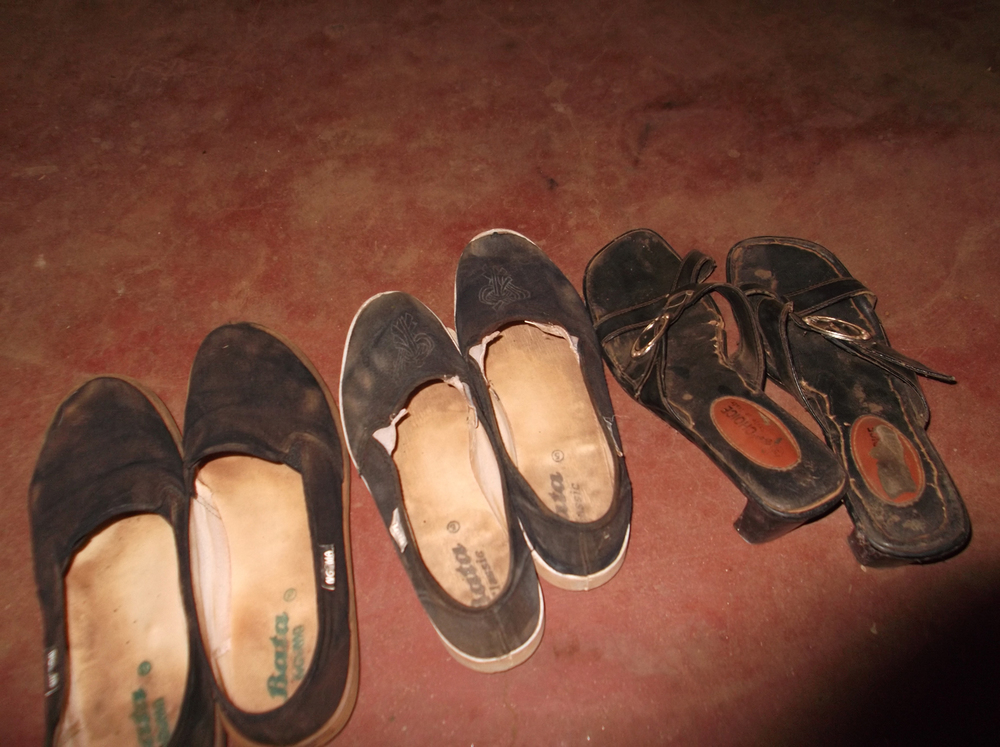 I was given these shoes as a present. I was very happy. I wore them when my feet were dirty.  © Faith Katoo Ngei 2012 / ODI / PhotoVoice