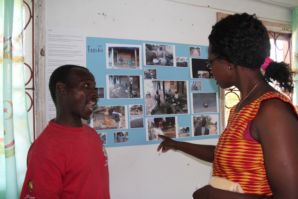 Fabiao showing off his work at the community celebration, Chokwe, Mozambique  © Gloria Santos 2012 / ODI / PhotoVoice