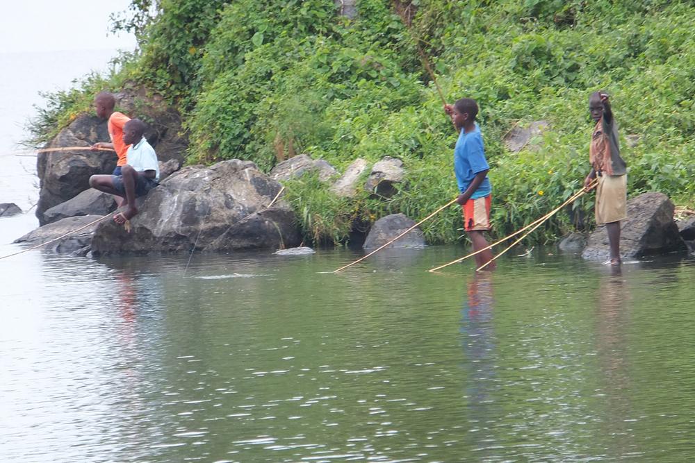 Boys fishing with fishing hooks, Kenya.  © Beryl Oyier 2012 / ODI