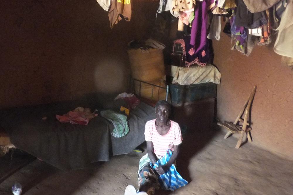 Grandmother beneficiary in her hut, Kenya.  © Beryl Oyier 2012 / ODI