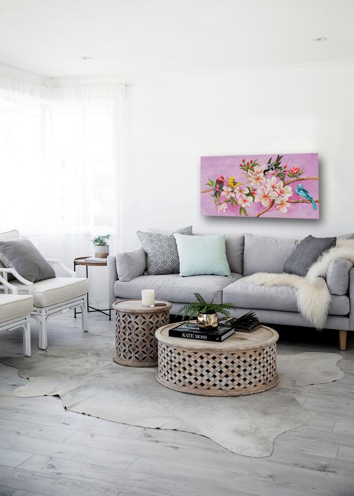 Bloom painting I acrylic on wood