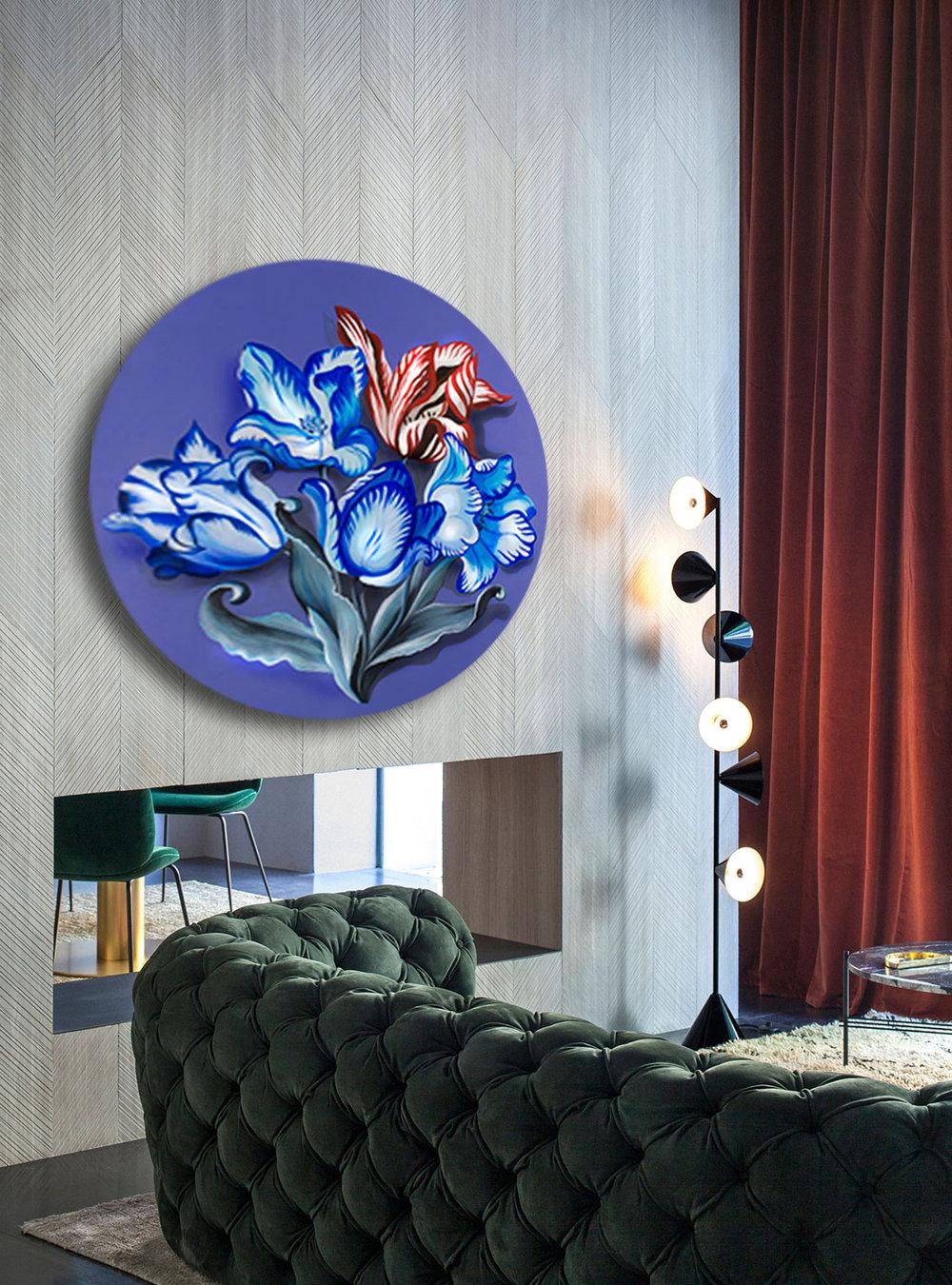 Porcelain painting I acrylic on wood