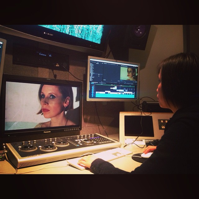 Popped into the editing suite to watch #IrisNg colour correct my face for the #BodyLikeLead video. Mesmerizing. #kashka