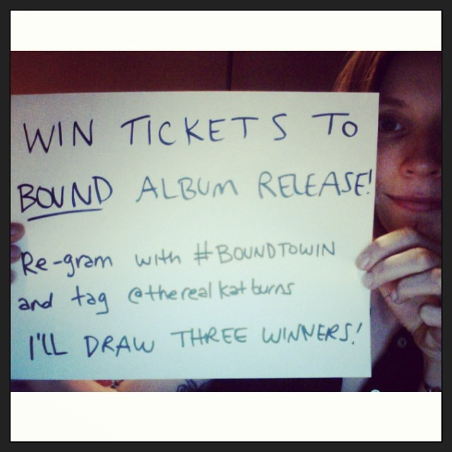 Hello Toronto and Ottawa! Some fun shows coming up in a few weeks. Follow these instructions and I'll draw three winners, each getting a pair of tix each! #BoundToWin