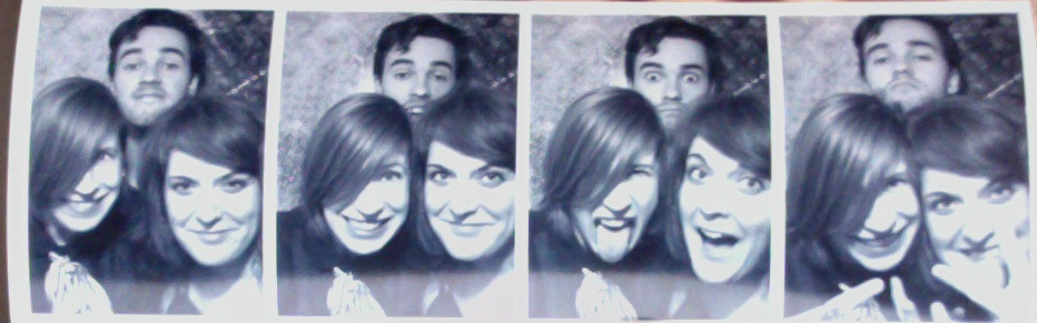 This photo strip was taken at the Drake's old-school photo booth after the Vapor Music 2013 showcase last night.   It was a busy industry night and –although I was plagued by the nerves that have been taking over lately– we had a great time. The other bands were really awesome (Yukon Blonde, Night Box) and it really was an honour to share the stage with them.    Big thank you to Vapor Music for inviting me out to play and to my band for keepin' it real.   x