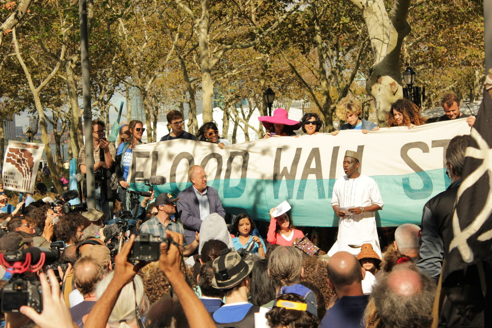 Mamadou Goïta from Mali, West Africa Speaks at the Morning Rally in Battery Park, NYC