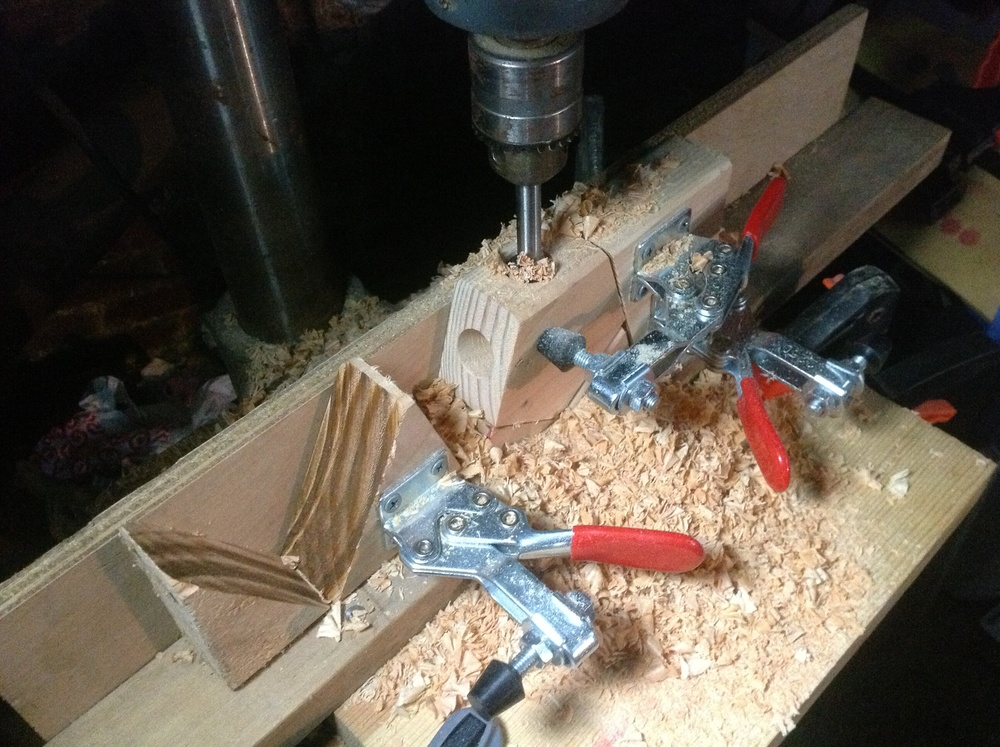 Jig for drilling the holes.