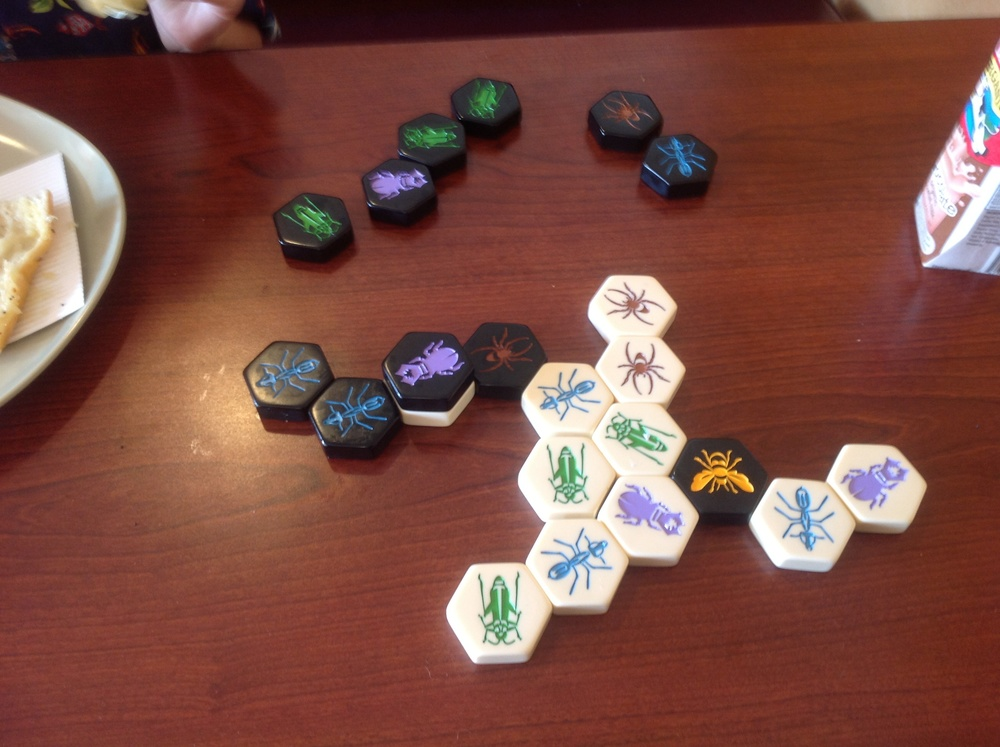A hive game in progress