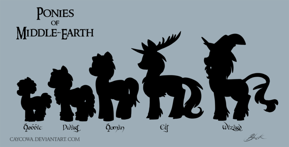 The Ponies of Middle-Earth, via Caycowa.