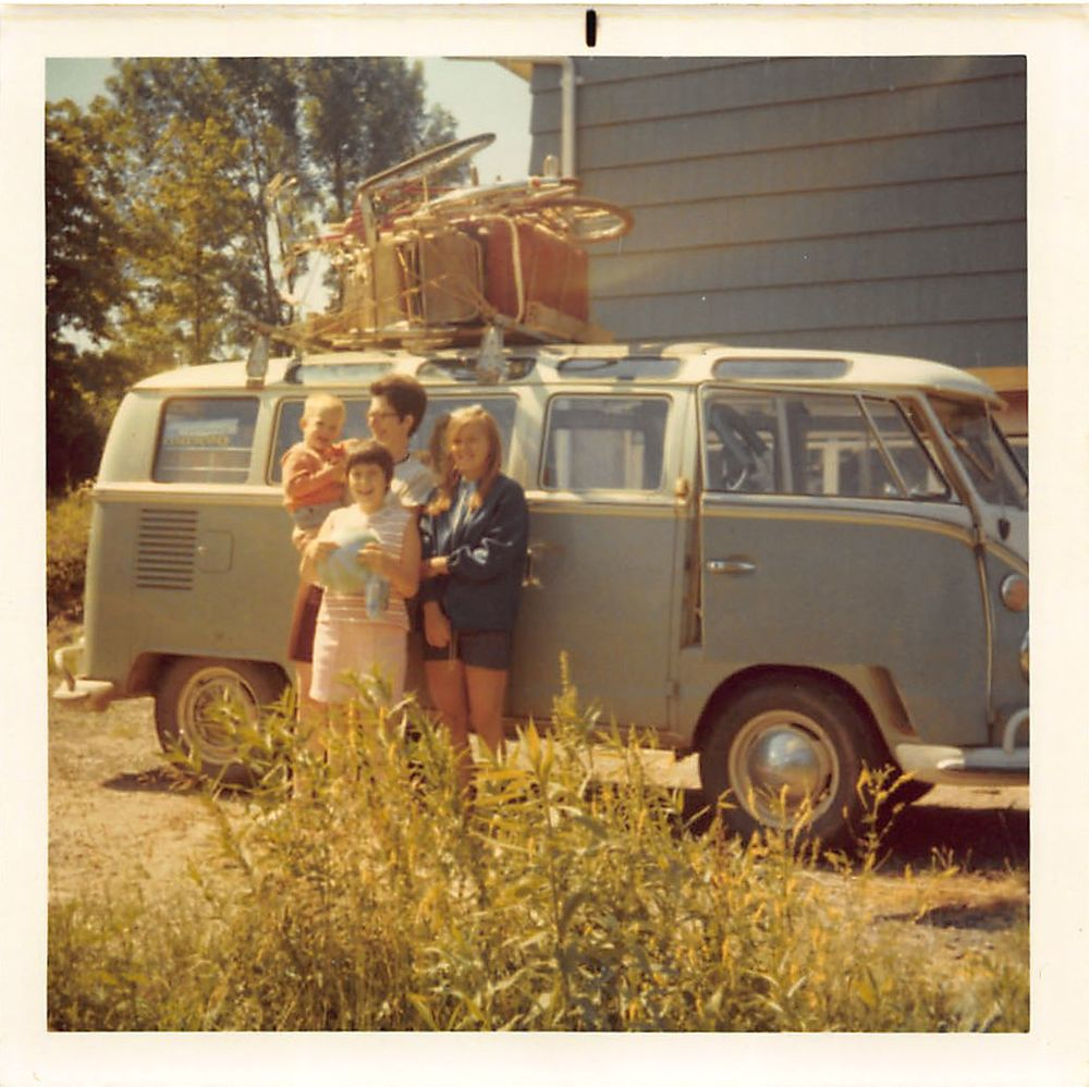 This was actually our first bus. I have almost no memory of it. I've also spent the last five minutes trying to parse what collection of items is strapped to the roof.