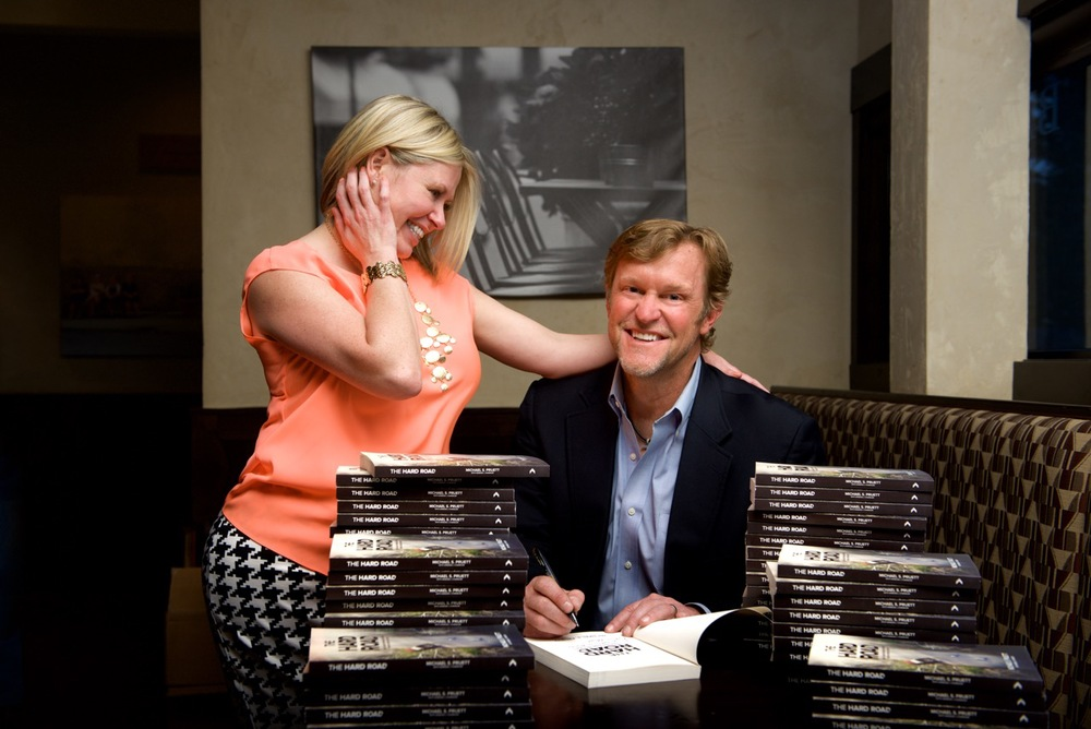 Dawn and Michael at the book signing for The Hard Road on April 22.
