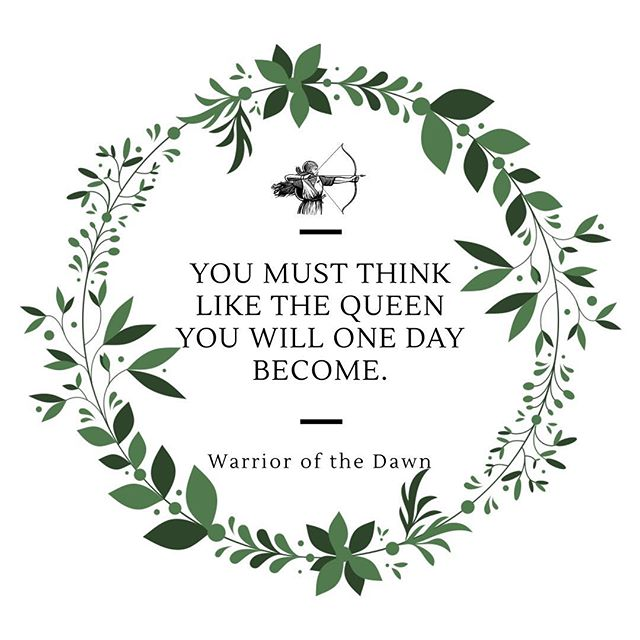"""""""You must think like the queen you will one day become."""" """"Warrior of the Dawn"""" is available for purchase NOW 💫⚡️ It's the perfect gift for the pre-teen or teenager in your life (or even yourself! 🙌🏻) In this coming of age fantasy tale, a young woman must confront the truth of her past and find the song placed upon her heart to heal the land."""" Purchase by clicking the link on our profile!"""