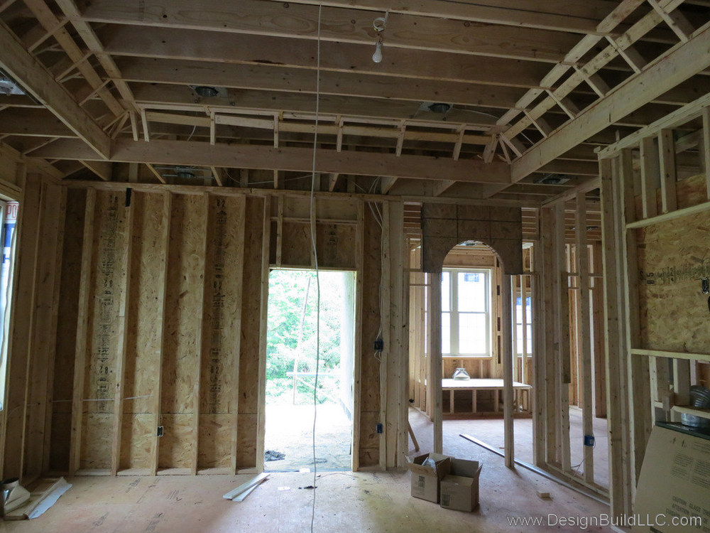 The master bedroom during construction