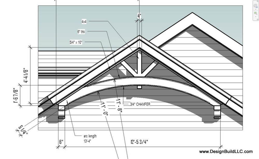 Show rafter construction details