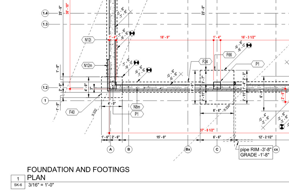 Foundation layout plans